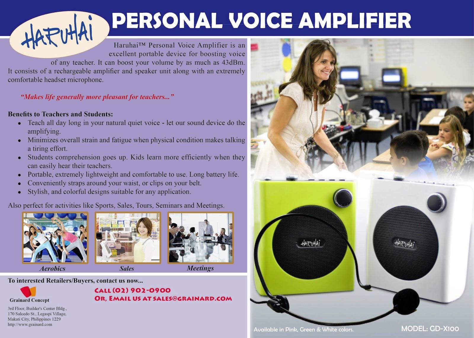 amplificador profesores y conferenciantes