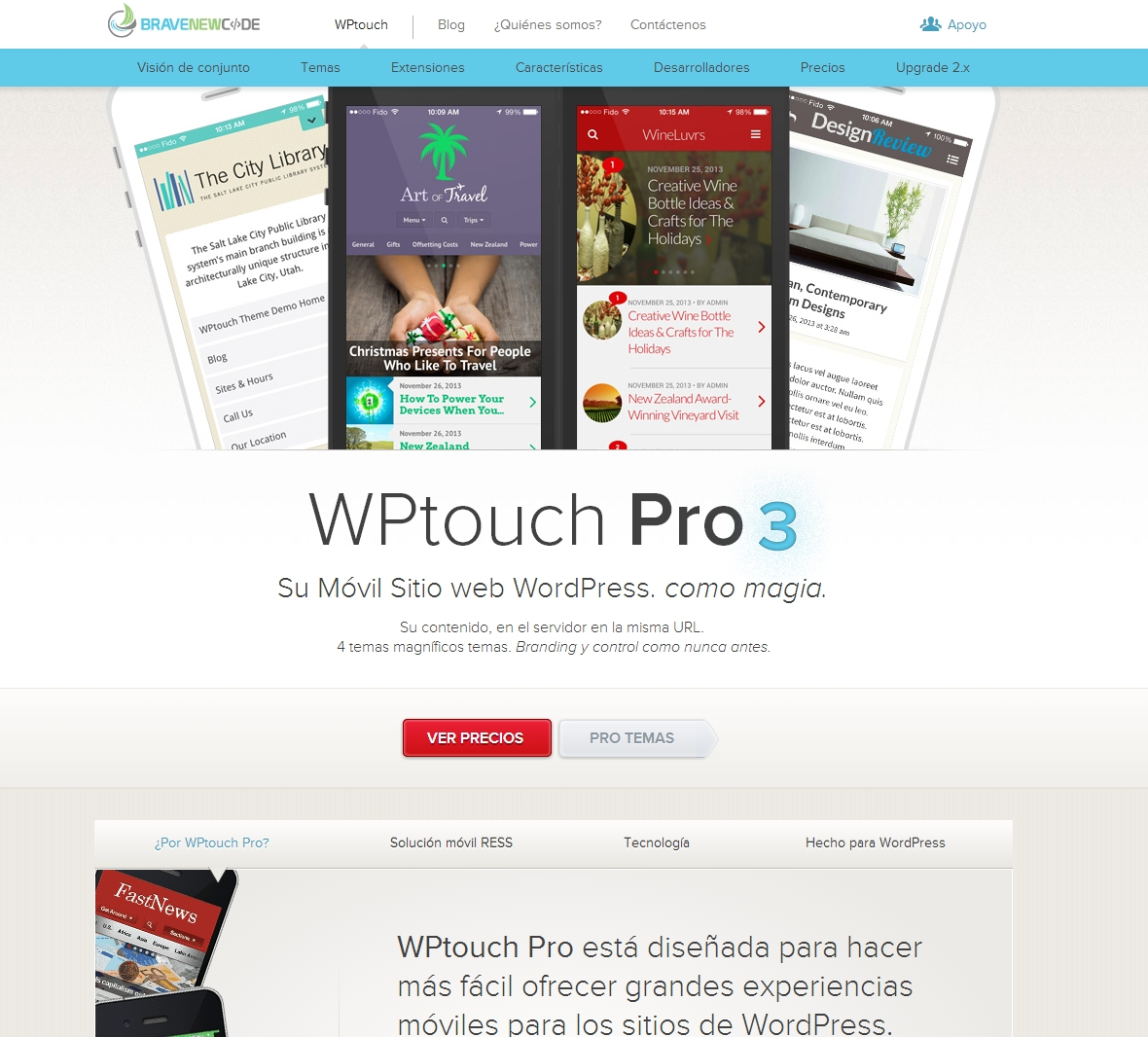 Plugins de wordpress que permiten transformar una web para que sea adaptable a los móviles.