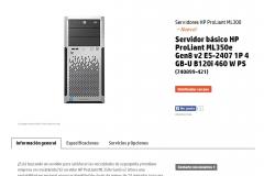 Ejemplo de servidores típicos para medianas y pequeñas empresas.