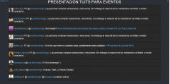 Presentación de Tuits para eventos.