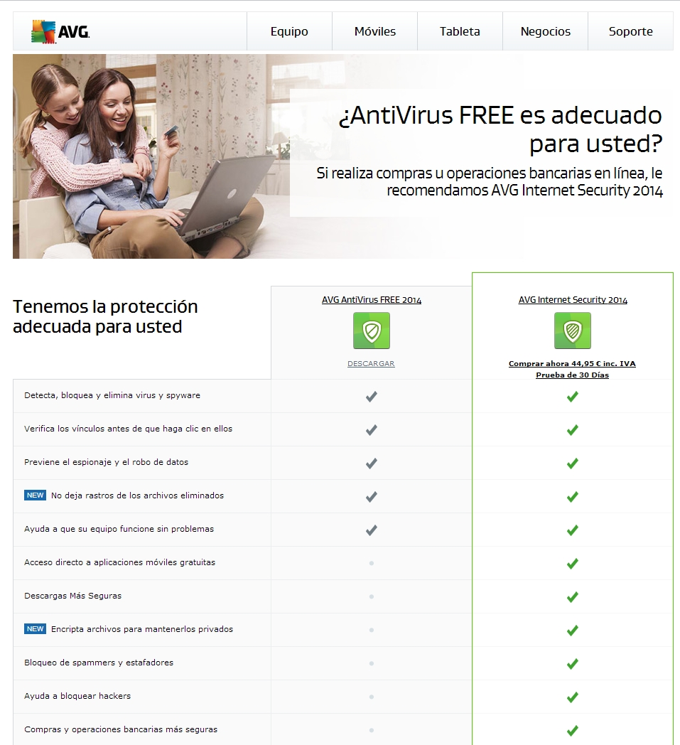 Antivirus gratuitos para equipos de sobremesa y portátiles.