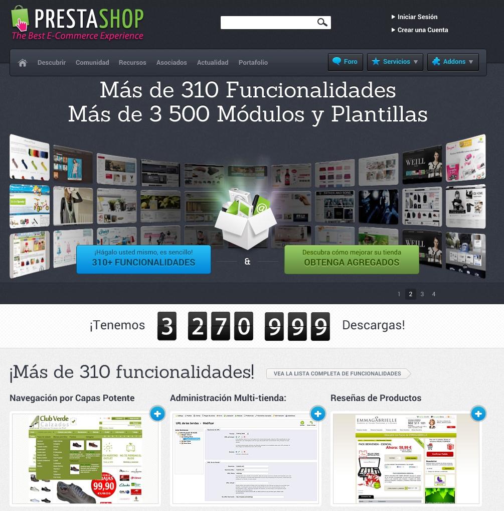 Gestor de Contenidos, especializado en tiendas on-line: Prestashop.