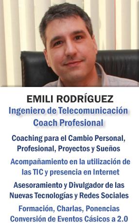 Emili Rodríguez - Coach Profesional (Tecnológico y Personal), Ingeniero de Telecomunicación y Asesor de Nuevas Tecnologías